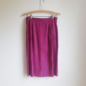Carlisle Vintage Silk Skirt